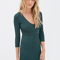 Metallic-Threaded Knit Dress