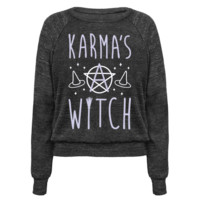 KARMA'S A WITCH (WHITE) PULLOVERS