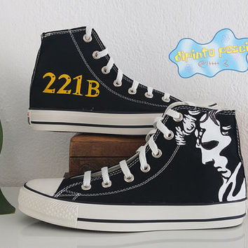 Sherlock Hand Painted Custom Shoes