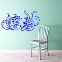 Octopus Version 106 Wall Vinyl Decal Sticker Decals Nautical Ocean