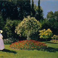 Claude Monet Jeanne-Marguerite Lecadre In The Garden Sainte-Adresse