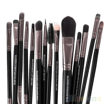 makeup brushes set, women's fashion accessories, 15PCS Makeup Tool Brushes Set Kit Foundation Eyeshadow Mascara Lip Brush Eyebrow = 5987533697