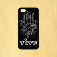 Hamsa Hand Vibes Phone Case iPhone 4 / 4s / 5 / 5s / 5c /6 / 6s /6+ Apple Samsung Galaxy S3 / S4 / S5 / S6