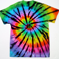 Tie Dye Tshirt/ Rainbow Stained Glass/ Adult Small