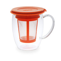 CLARO Glass Brew-in-Cup with Infuser & Lid [806] - $18.00 : FORLIFE, Online Shop