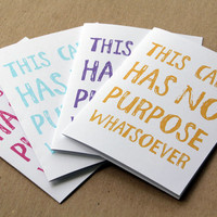 funny no purpose card set of 4 assorted cards letterhappy etsy card best friend stationery set