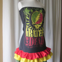 Made-to-Order Grateful Dead Steal Your Face Rasta Reggae Jamaica Dress LIMITED AVAILABILITY