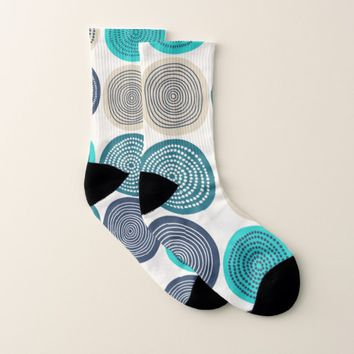 Abstract Circle Socks