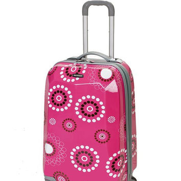 "F151-PINKPEARL 20"" Polycarbonate Carry On Luggage Set"