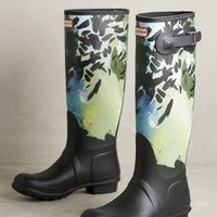 Hunter Original Tall Botanical Rain Boots in Botanical Size: