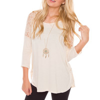 Dulce Lace Top - Ivory