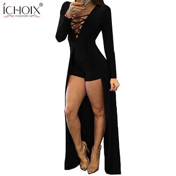 Women Clothing Sexy Dresses Red V-Neck Long Sleeve Slim Bodycon Bandage Dress Tight Party Dresses Black Woman Clothes 2017