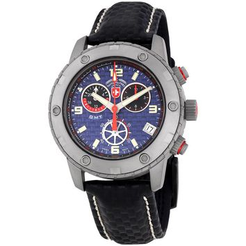 Swiss Military Rallye GMT Blue Dial Chronograph Mens Watch 27471