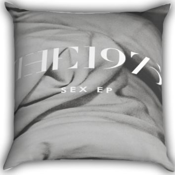 the 1975 band albumsex EP Zippered Pillows  Covers 16x16, 18x18, 20x20 Inches