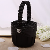 Free Shipping Black Flower Girl Basket Wedding Decoration Party Ceremony Supplies