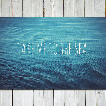 Ocean photograph - nautical wall art - 8x12 print