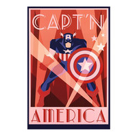 Captain America Art Deco Poster