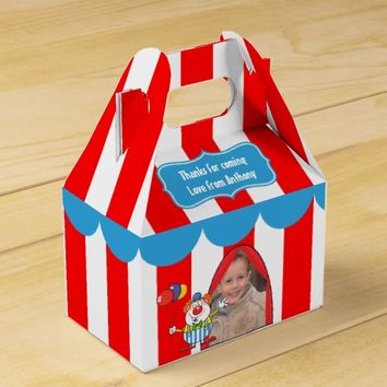 Kids Circus Party Personalized Favor Box