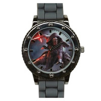Star Wars Episode VII TFA Kylo Ren Grey Silicone Strap Watch:
