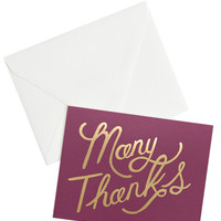 Burgundy Foil Thank You Card Set