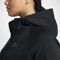 The Nike Sportswear Tech Fleece (Plus Size) Women's Full-Zip Hoodie.