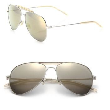 Saint Laurent - Classic 11 Oversized Metal Aviator Sunglasses