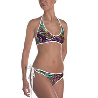 Pattern LXXVIII - Comfortable Bikini - Cheeky fit - Reversible design
