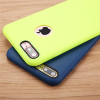 Solid Candy Color Ultra Thin Phone Cases for iPhone 7 6 6s Plus 5 5s SE