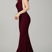 Jovani Open Back Long Dress