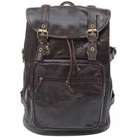 Genuine Leather Casual Travel Backpack