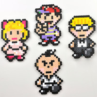 Earthbound Magnet Set Perler Bead Super Nintendo Ness Paula Jeff Poo