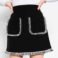 ASOS A-Line Skirt with Fringe at asos.com