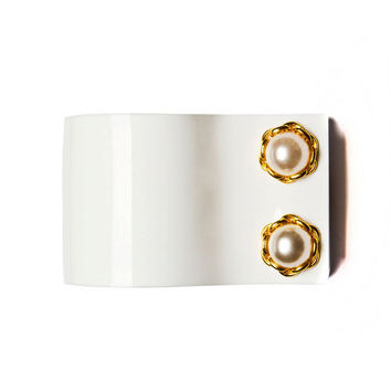 Pearl Sleeve like Cuff Bangle
