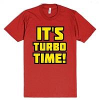 It's Turbo Time-Unisex Red T-Shirt