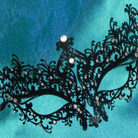Metallic Scroll Filigree Masquerade Mask