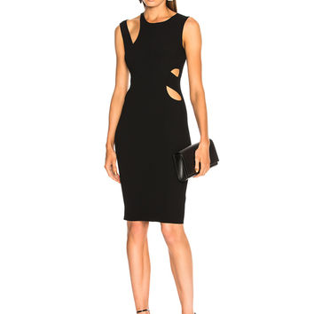 Helmut Lang Layered Slash Tank Dress in Black | FWRD