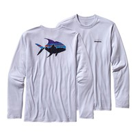 Patagonia Men's Long-Sleeved Graphic Tech Fish Tee | Fitz Roy Permit: Ion Blue