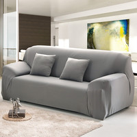 Sofa Cover Sofa Slipcover 1/2/3/4-Seat Single/Two/Three/Four-Seater Stretch Solid 10colors Funda Sofa Couch Cover Capa De Sofa