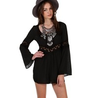 Black Sway My Way Crochet Romper