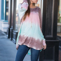 Waves Of Color Top, Mint