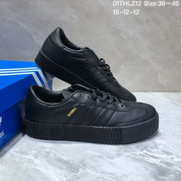 KUYOU A390 Adidas Sambarose Thick-soled heightened sneakers Black