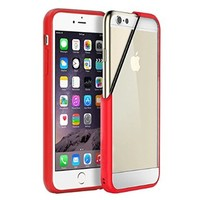 iVAPO iPhone 6 4.7inch Case, Clear Slim Back Cover, Scratch-Resistant Sleek Hard Case For iPhone 6 4.7inch (MM525) (Red)