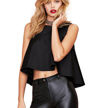 Black Layers Crop Top