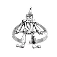 925 Sterling Silver Clown of God Ring