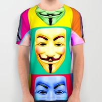 GUY FAWKES All Over Print Shirt by Fiery Finn77