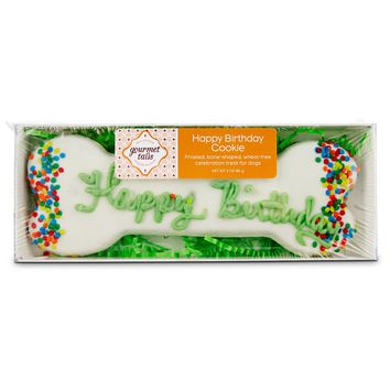 Gourmet Tails Happy Birthday Cookie Dog Treat, 3 oz. | Petco Store