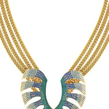 Women's Vince Camuto 'Palmistry' Pave Leaf Statement Necklace