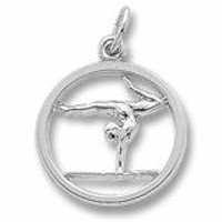 Gymnast Charm In Sterling Silver