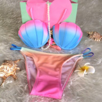HOT RAINBOW SHELL CUTE COLORFUL BIKINIS
