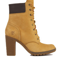 Timberland Glancy 6-Inch Heeled Boots in Wheat Nubuck